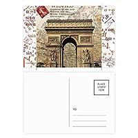 最高のパリ勝利のアーチ 公式ポストカードセットサンクスカード郵送側20個