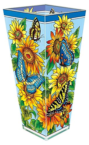 Sunflower Glass Flower Vase