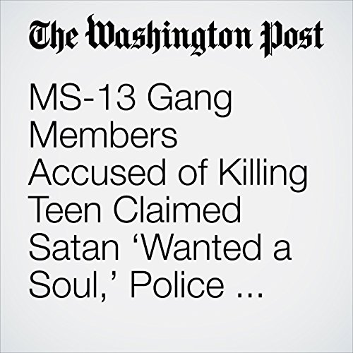 MS-13 Gang Members Accused of Killing Teen Claimed Satan 'Wanted a Soul,' Police Say copertina