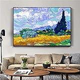 Van Gogh Abstrakte Blume Leinwand Wandkunst PrintWall Art Bild Cuadros Kunstwerk Gedruckt auf Leinwand Malerei Wohnkultur Wohnzimmer-Rahmenlose Malerei70x85cm