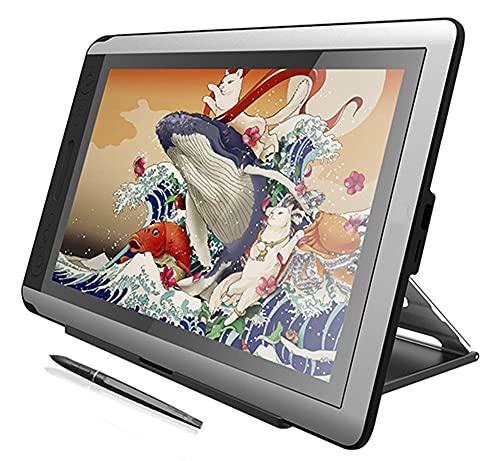 Xyfw Monitor De Tableta De 15,6 Pulgadas Monitor De Dibujo De Gráficos Digitales Monitor De Pantalla De Lápiz 8192 Niveles para Win Y Mac,no Stand