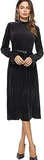 Mother of The Bride Dresses-Long Sleeve V Neck Long Formal Evening Party Dress