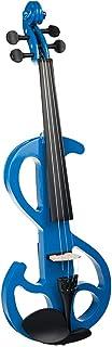 4/4 Violín Eléctrico Silencioso Guitarra Clásica de Madera con Estuche Rígido Auriculares para Jugadores Avanzados de Violín