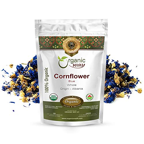Organic Way Premium Cornflower Blue Whole (Centaurea cyanus) - European...
