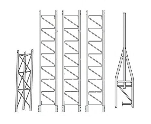 ROHN 45SS040 45G Series 40' Self Supporting Tower Kit, No Ice. Buy it now for 1407.00