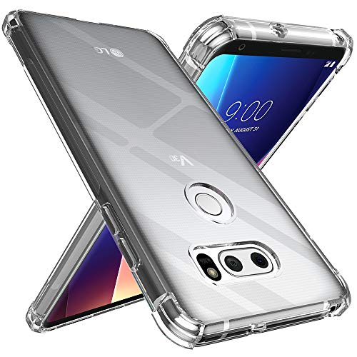 Raysmark Case for LG V30 / LG V30S / LG V30 Plus/LG V30S ThinQ/LG V35 / LG V35 ThinQ Case, Ultra Slim Thin Scratch Resistant TPU Rubber Soft Skin Silicone Protective Case Cover (Clear)