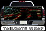 SF T191 Distressed American Flag Tailgate WRAP...