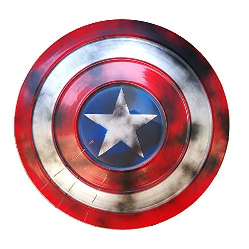 Capitn Amrica Escudo Fullmetal, Serie Avengers Legends, 47Cm Captain America Shield 1: 1 Escudo Legends Series Replica Marvel Prop Smoked,47cm