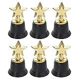 Toyvian 6 Piezas Premios del Premio del Trofeo de la Estrella de Oro de plástico para celebración Premios de Deportivo