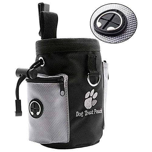 SHINYLYL Dog Treat Pouch Pet Training Bag Puppy Walking Pouch for Pet Stuff and Poop Bag Dispenser Easily Carries Treats, Kibbles, Pet Toys