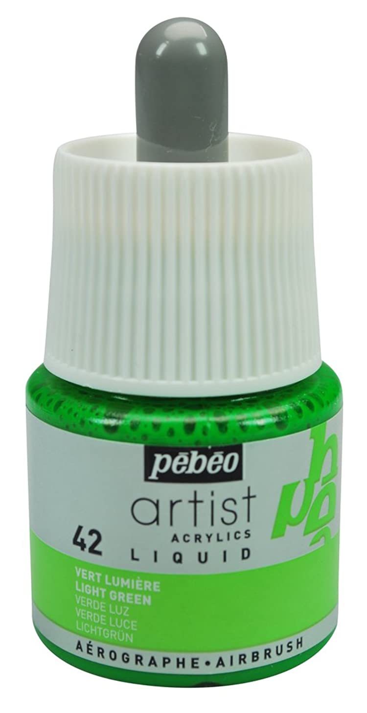 Pebeo Artist Acrylics, Liquid Acrylic Ink, 45 ml Bottle with Dropper - Light Green