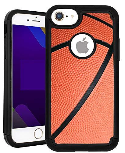 SunCases Hybrid-Schutzhülle für iPhone 6 Plus/6S Plus, Basketball, hart, Kratzfest, mit vollständiger Schutzabdeckung