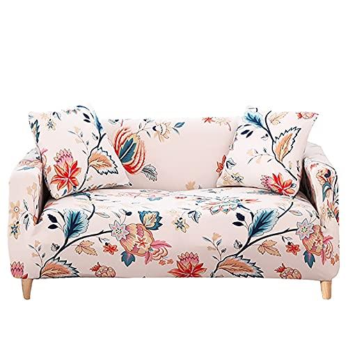 ASCV Funda de sofá Cama sin reposabrazos Fundas de Asiento Plegables Funda elástica Protector de sofá Fundas de futón de Banco elástico Moderno A8 4 plazas
