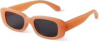 نظارات شمسية مستطيلة الشكل للنساء من GIFIORE نظارات شمسية عصرية من الأشعة فوق البنفسجية 400 للحماية بإطار واسع