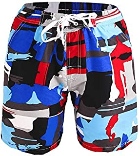 Kute 'n' Koo Boys Swim Trunks UPF 50+ Quick Dry Boys Swim Shorts for Big Boys and Toddlers Size from 2T to 18/20 (14/16 Doodle Blue) [並行輸入品]