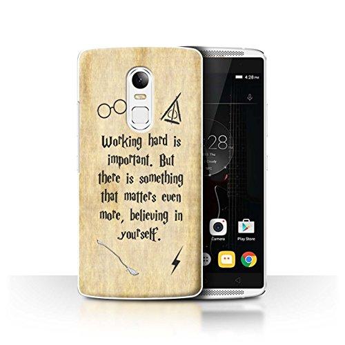 Hülle Für Lenovo Vibe X3 Schule der Magie Film Zitate Working Hard/Believe Design Transparent Ultra Dünn Klar Hart Schutz Handyhülle Case