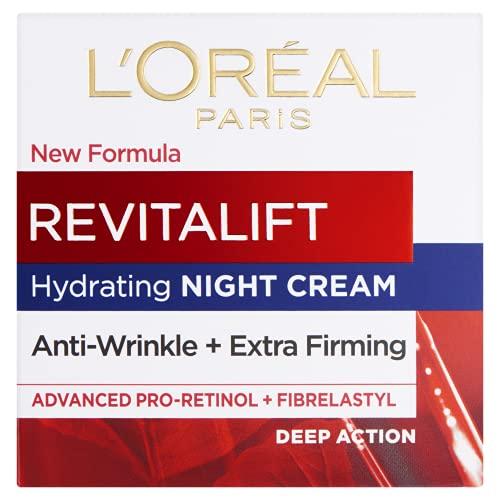 L'Oreal Paris Revitalift Anti-Wrinkle + Firming Pro Retinol Night Cream 50...
