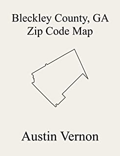 Bleckley County, Georgia Zip Code Map: Includes Northeast Bleckley, and Cochran