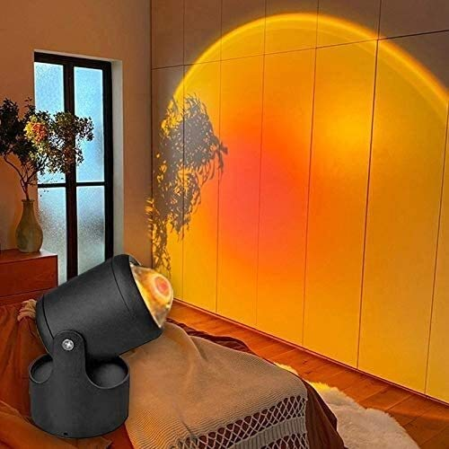 Proyección de la puesta de sol LED, lámpara de halo del arco iris para niños para niños para niños - Proyector de luz LED de la noche - Proyección de la lámpara de la puesta de sol de rotación de 360
