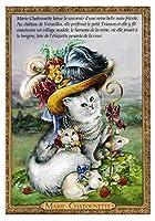 フランス製 キャットポストカード (MARIE CHATOUNETTE) マリーアントワネット CPK141