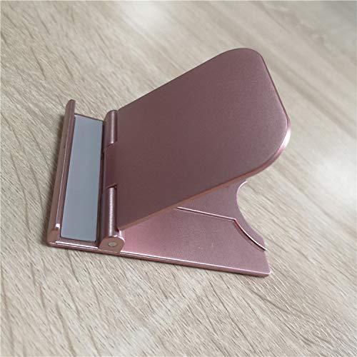 Soporte Ajustable De Escritorio Portátil Plegable De La Tableta del Soporte del Teléfono Móvil Los 8cm * los 6cm Oro Rosado