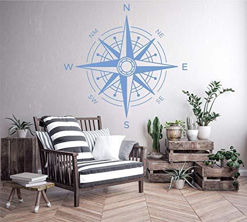 Wandtattoo Wandsticker Autoaufkleber Weltenbummler Kompass Windrose - 03*** (Größen und Farbauswahl)
