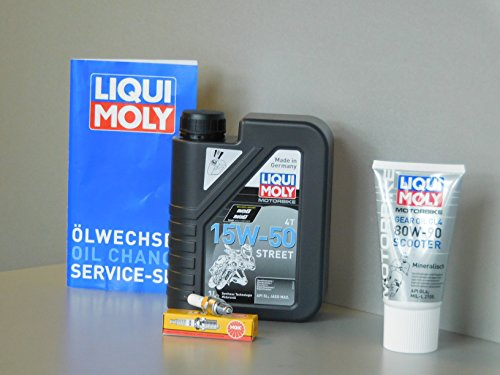 MotorFunSports Kit d'entretien motobi BC1 50 d'inspection Huile ölwechsel Service Bougie d'allumage
