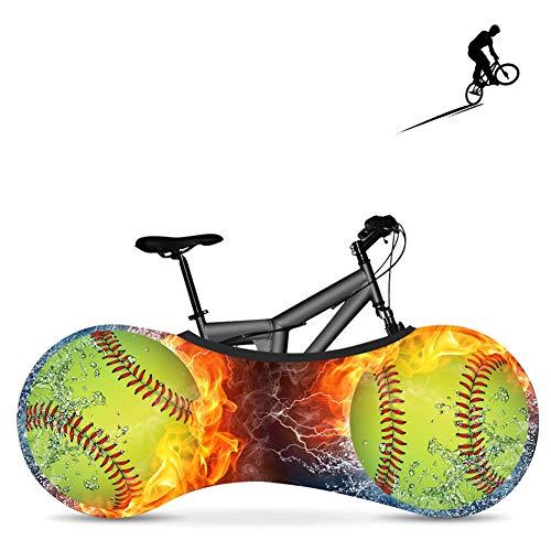 BDYD Fahrradradabdeckung, Fahrradabdeckung, staubdichte elastische Innenabdeckung, waschbar für die meisten Fahrradaufbewahrungsbeutel-Schutzabdeckungen,Balle