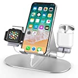 ✅【Wide Compatiblity】: This apple watch charger stand can perfectly work with iPhone stand & iWatch charging stand & iPad stand at the same time. It compatible with all Mobile Phones (all size), Apple Watch (both 38mm to 44mm) and most Tablets (up to ...