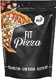 nu3 Fit Low Carb Pizza - 270 g Backmischung ohne Hefe zum selber machen - Vegan - Protein Pizza dank Leinsamen- & Mandelmehl - nur 2 g Kohlenhydrate pro Pizzaboden - fast 15 g Eiweiss pro Teigboden -