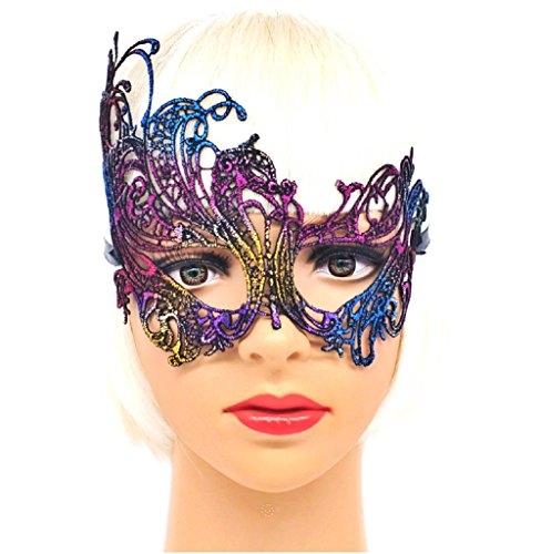 Inception Pro Infinite ( MOD.5 ) Maschera Veneziana - Multicolor - macramè - Carnevale - Halloween - Idea Regalo - Uomo - Donna - Unisex
