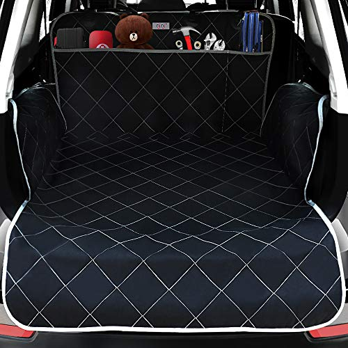 njnj SUV Cargo Liner for Dogs - Extra Large Pockets,Heavy Duty Durability Mats for Pet,100% Waterproof Cargo Cover,Nonslip Backing,Bumper Flap Protector,Large Size Universal Fit Illinois