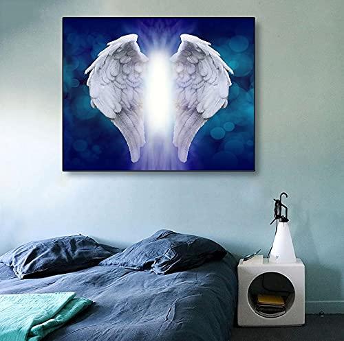Puzzle 1000 piezas Cuadro de plumas alas de ángel cartel arte regalo puzzle 1000 piezas animales educativo divertido juego familiar para niños adultos Rompecabezas educativo d50x75cm(20x30inch)