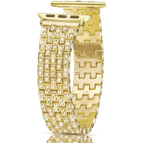 Correa de pulsera de metal con diamante completo para Apple Watch series 1/2/3 40 mm 38 mm banda de moda para iwatch 4 5 6 SE bandas 42 mm 44 mm
