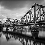 Poster 60 x 60 cm: Glienicker Brücke von Sebastian Rost -