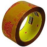 Scotch t90137326pk marrón/rojo # 373227,9Carton cinta de sellado, 2'x 55YD. (Pack de 6)