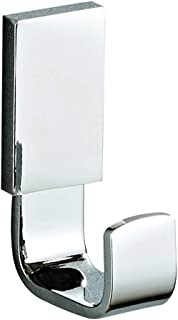 Bathfirst 1-Piece Coat Hook Brass Robe Towel Hook Heavy Duty Wall Hook Bathroom Accessory Wall Mounted, Polished Chrome