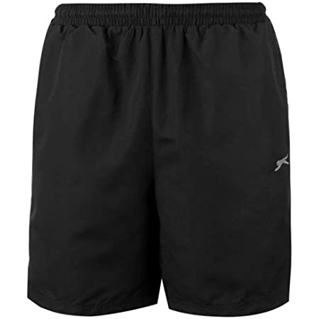 Mens 2 Pockets Mesh Briefs Woven Shorts Pants Bottoms (X-Large, Black)