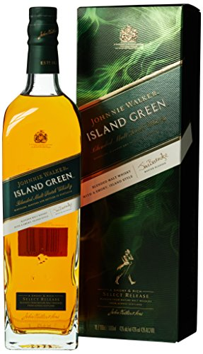Johnnie Walker ISLAND GREEN Blended Malt Scotch Whisky Select Release mit Geschenkverpackung (1 x 1 l)