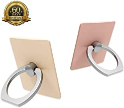 Cell Phone Ring Holder, F-Security Phone Ring Stand 360 Degree Rotation and 180 Degree Flip Thin Finger Ring Kickstand for Smartphones / Tablet / Most of Phone Case, 2 Pack