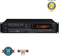 Tascam CD-RW900MKII Professional Rackmount CD Recorder/Player includes Free Wireless Earbuds - Stereo Bluetooth In-ear and 1 Year Everything Music Extended Warranty