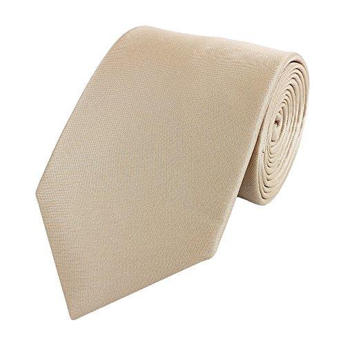 Fabio Farini - Elegante Fliegen und Krawatten in verschiedenem Design für Herren, Bräutigam und Hochzeitsgäste Krawatte 8cm helles beige