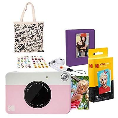 Kodak PRINTOMATIC Instant Print Camera (Pink) Gift Bundle (AMZASK2RODPK) by Kodak