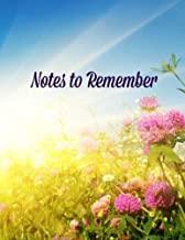 Notes to Remember (Seasons Series-Summer-Extra Large 8 x 11) (Volume 2)