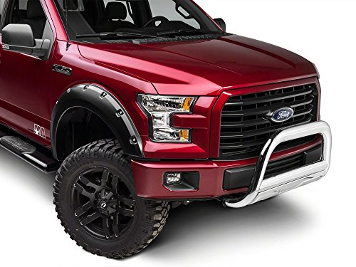 """Barricade Off-Road 3.5"""" Bull Bar in Polished Stainless Steel Fitted and Compatible with Ford F-150 2004-2020 Excluding Raptor"""