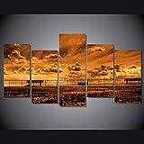 Leinwandmalerei Wohnkultur 5 Stück Sonnenuntergang Rocky