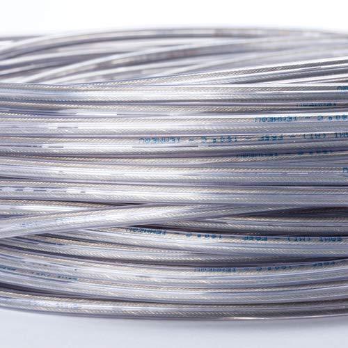 Cavo di alimentazione a 2 fili, trasparente, in plastica, 2 x 0,75 mm2, con conduttore a terra, filo elettrico
