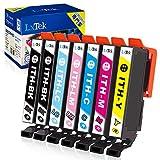 【LxTek】Epson用 エプソン ITH-6CL インクカートリッジ 7本セット(6色セット 黒1本) イチョウ インク 『互換インク/2年保証/大容量/説明書付/残量表示/個包装』対応機種:EP-811AB EP-811AW EP-709A EP-710A EP-711A EP-810AB EP-810AW