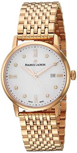 Maurice Lacroix Damen Analog Quarz Uhr mit Edelstahl Armband EL1094-PVP06-150-1