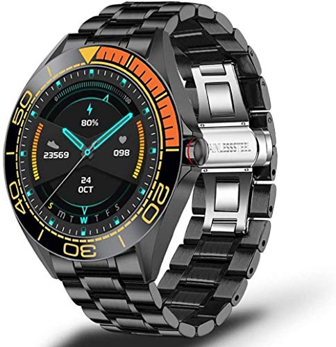 Reloj inteligente multifunción con monitor de salud de frecuencia cardíaca y contador de milla de carretera es adecuado para Android LOS impermeable Watch-D